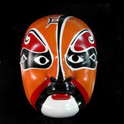 仕彩 手绘面具 纸浆面具 中式面具 变脸专用道具 京剧脸谱面具 儿童