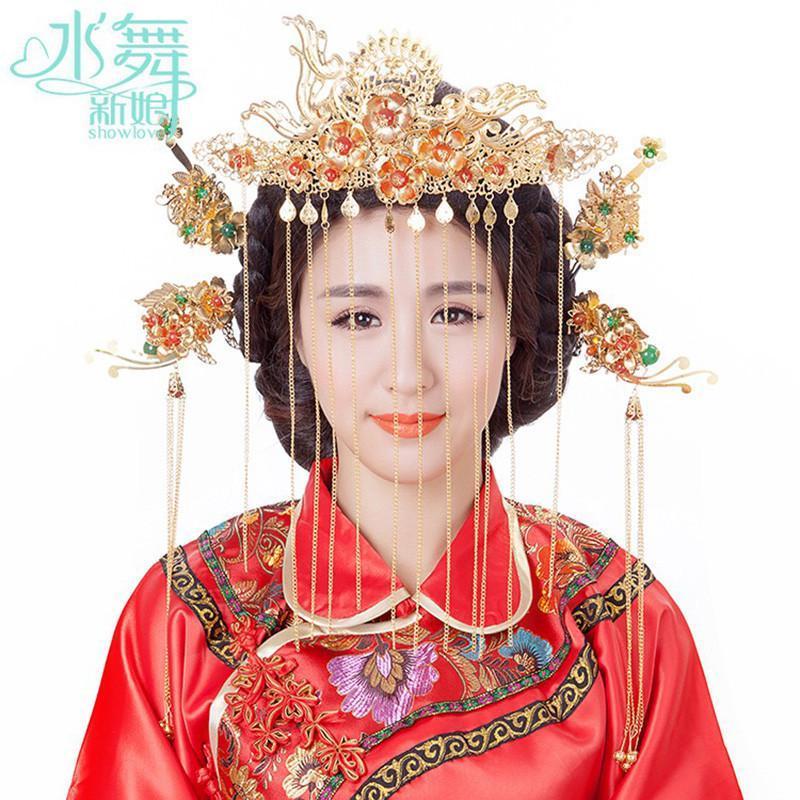 水舞新娘 倾世皇妃影视剧林心如同款头饰 古装古典婚庆发饰写真中式造图片