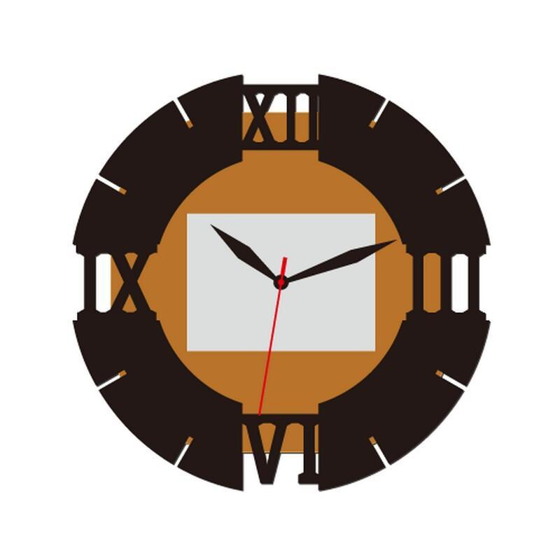 艺术木挂钟edg3102客厅挂钟艺术创意现代钟表装饰钟时尚欧式时钟静音