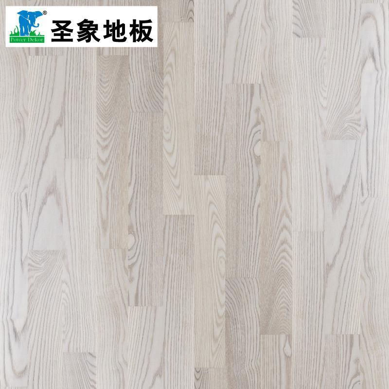 圣象康逸實木地板三層實木復合白富美ks8363圖思比白蠟正品