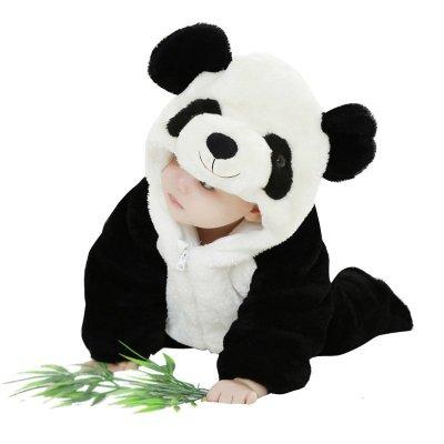 冬季新款婴儿连体衣宝宝动物造型3d熊猫哈衣 【包邮】新款超萌 熊猫