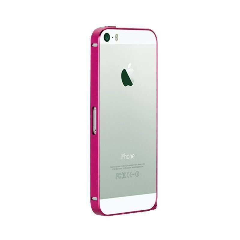 壳iphone5超薄金属边框苹果5s保护套免螺丝带按键iphone5s边框(黑色)