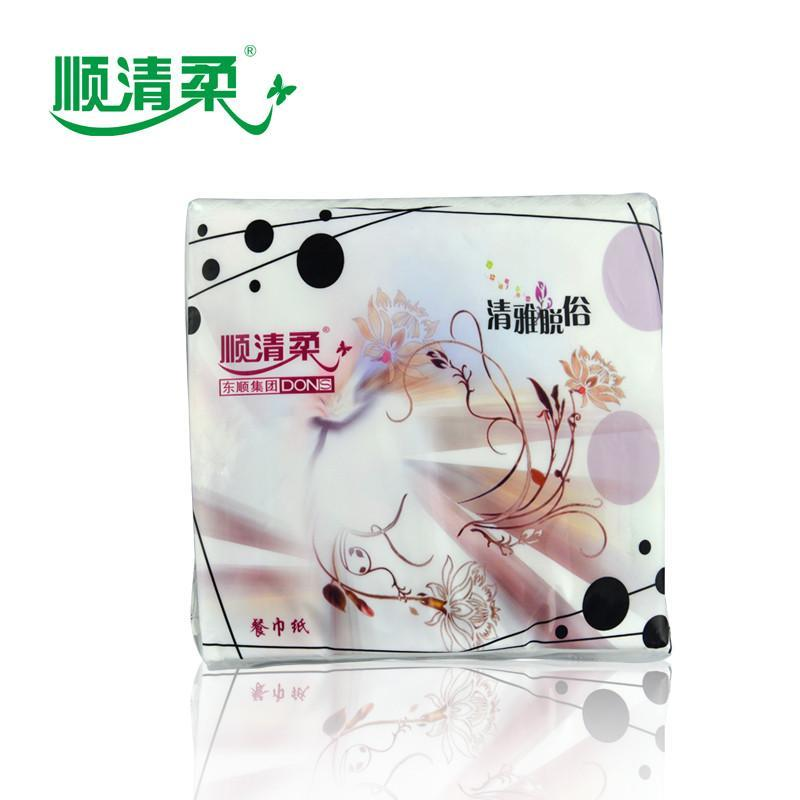 顺清柔纸品卫生纸餐巾纸巾小天使餐巾43张/2层/包30包a0445