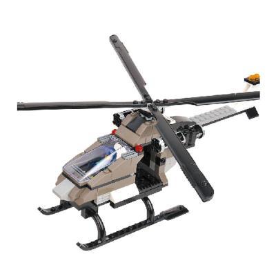 儿童乐高式直升飞机塑料拼插积木宝宝益智力拼装军事男孩早教玩具