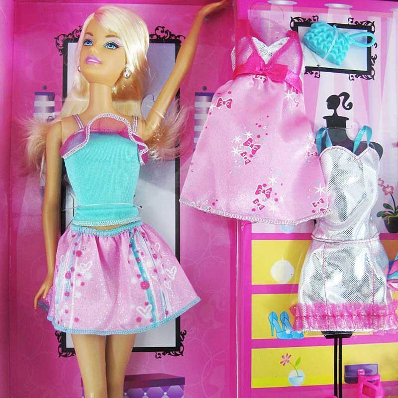 barbie芭比娃娃玩具芭比设计搭配礼盒套装 x6991