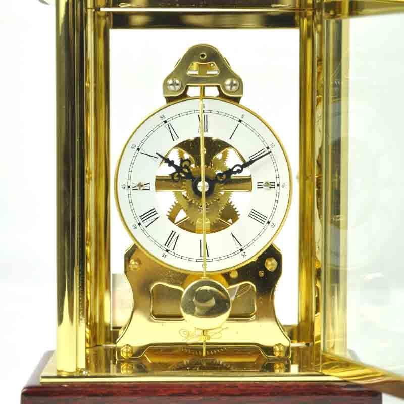 北极星t503欧式古典实木金属台钟透视机械座钟家居