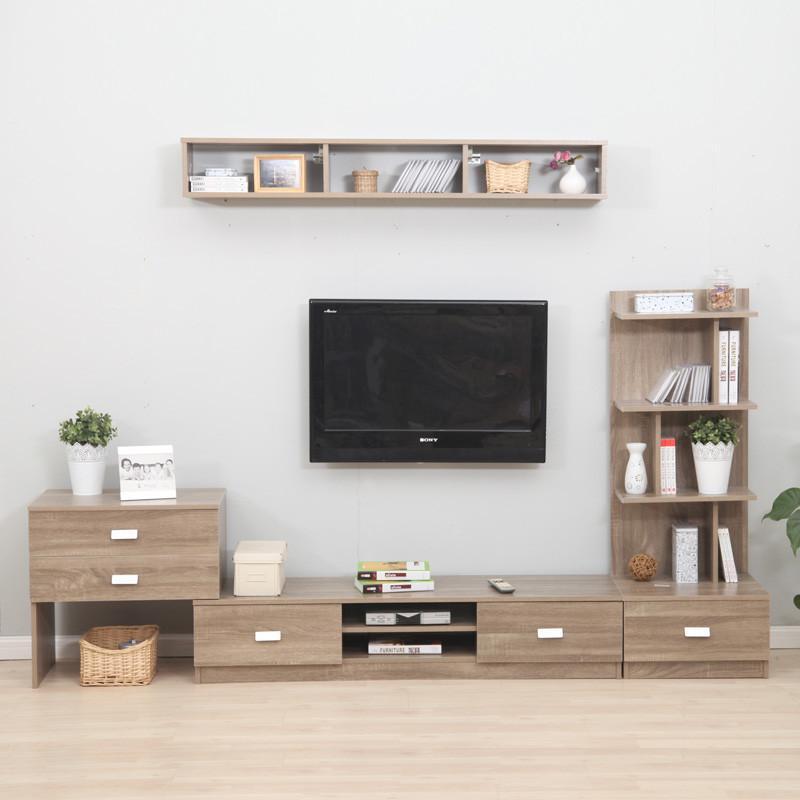 美达斯 加里组合电视柜 客厅柜地柜储物柜子 组合电视柜五件套