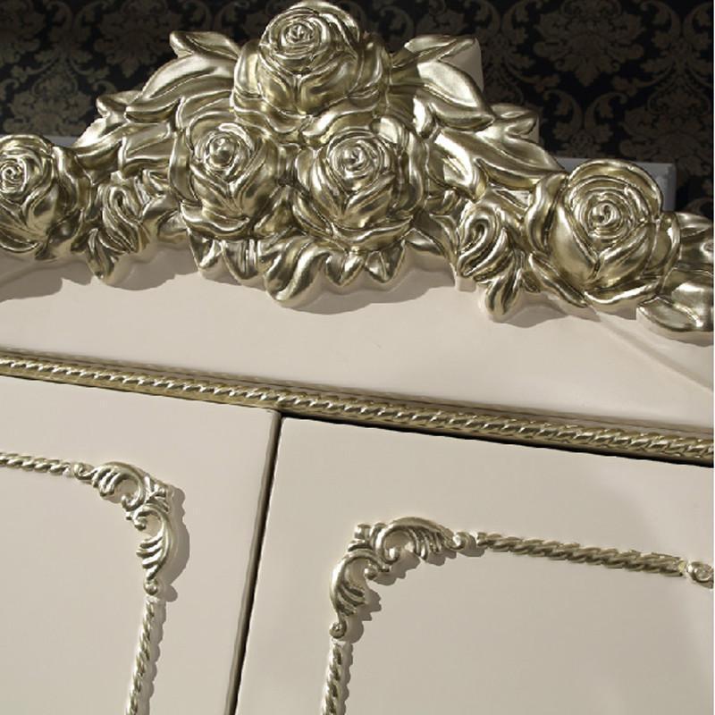 法丽莎家具实木衣橱欧式立体雕花衣柜实木衣柜多功能