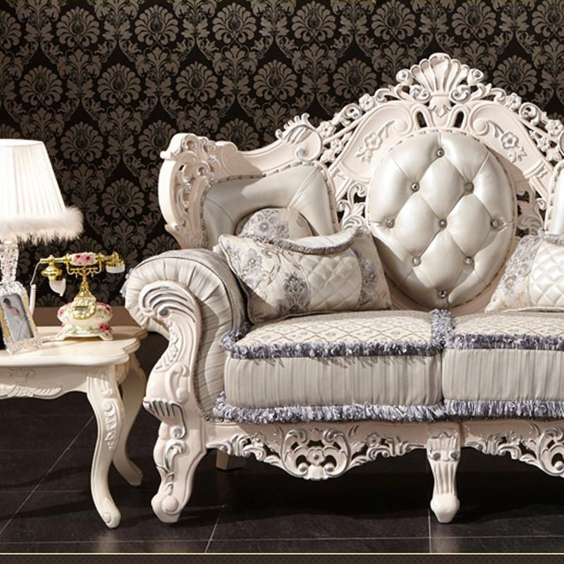 法丽莎家具g1实木沙发组合客厅欧式沙发仿古木质100%橡木雕刻沙发
