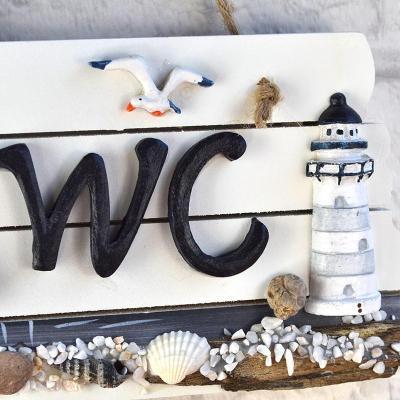欧式地中海风格木质卫生间挂牌