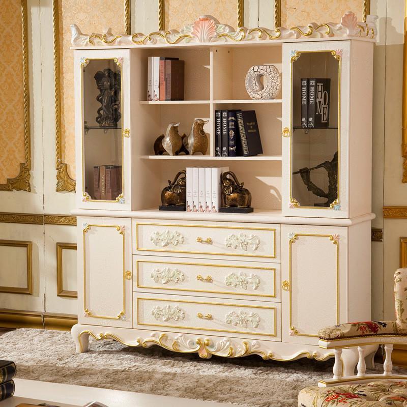 法丽莎家具g3欧式书柜储物柜法式宫廷彩绘书柜格子柜