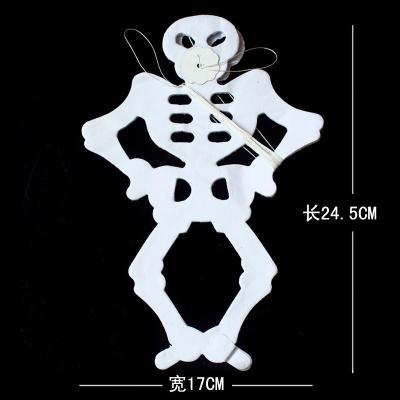 仕彩 万圣节拉花酒吧ktv装饰品场景布置道具骷髅骨架拉花