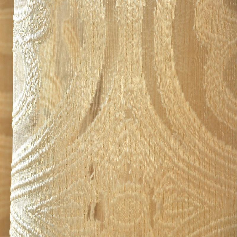 布蝶轩 现代简欧窗帘 欧式风格定制窗帘 高档客厅窗纱 奢华情调 米