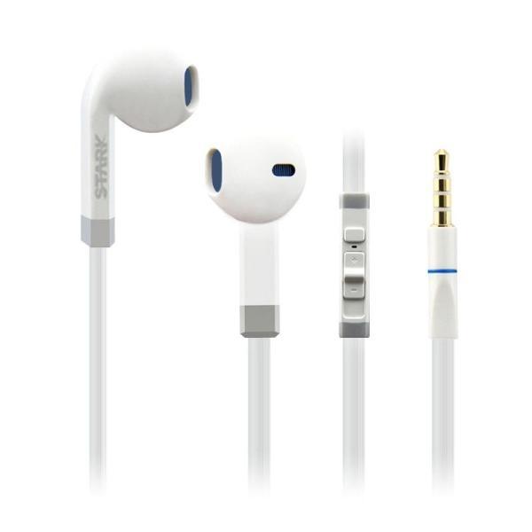 斯塔克-s800入耳式 线控耳机 手机,电脑通用,支持手机语音通话(白色)