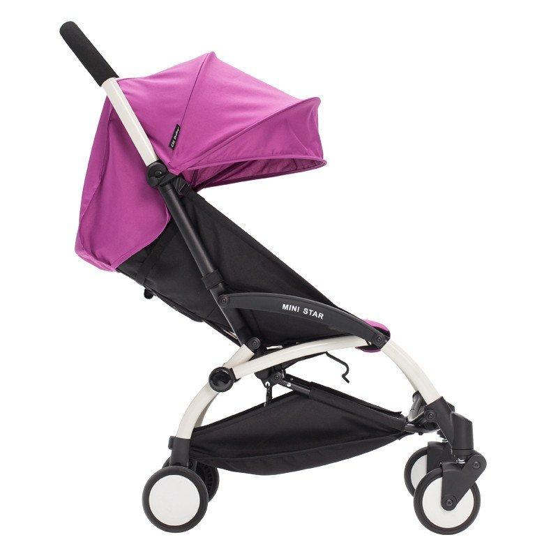 chbaby轻便避震折叠可携带上飞机婴儿推车伞车a787a 运动紫色高清实拍