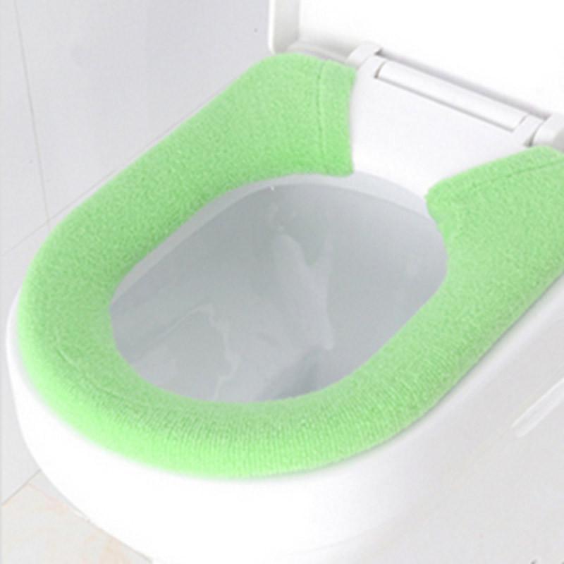 红兔子 单馨加家纯色纽扣型马桶坐垫套/保暖套 绿色