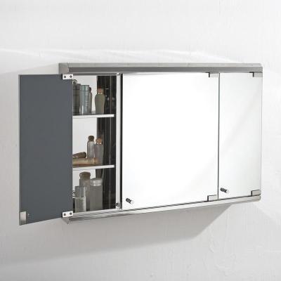 欧式不锈钢卫生间镜柜