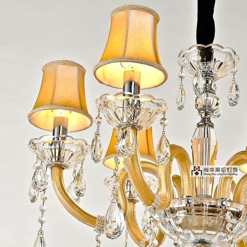 尚华英伦欧式吊灯客厅灯具灯饰 现代小客厅卧室水晶吊灯 简约餐厅水晶