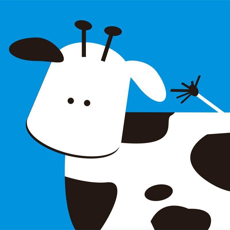 美时美刻 现代儿童房装饰画卡通动物壁画幼儿园挂画无框画三联