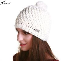 deniso帽子冬帽女款纯手工编织帽毛线帽针织帽