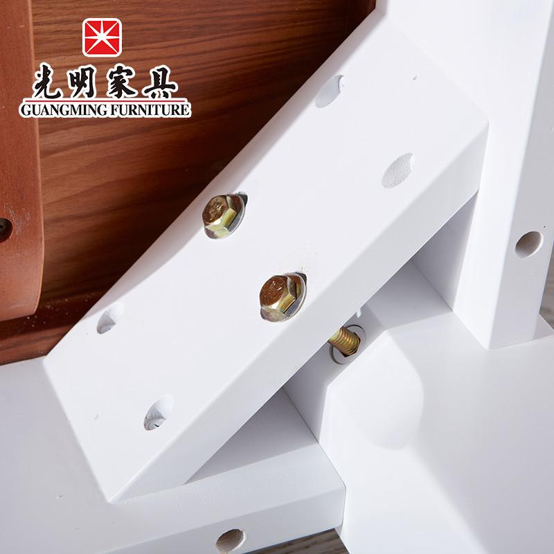 光明家具·风尚系列 时尚简约白色水曲柳全实木餐桌 餐桌