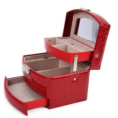 开馨宝经典欧式 复古自动式三层首饰收纳盒/饰品盒
