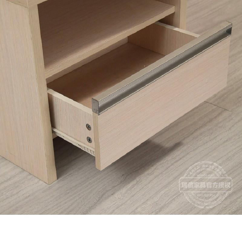 现代简约欧式白色田园宜家风格床头柜收纳柜边柜 银线木