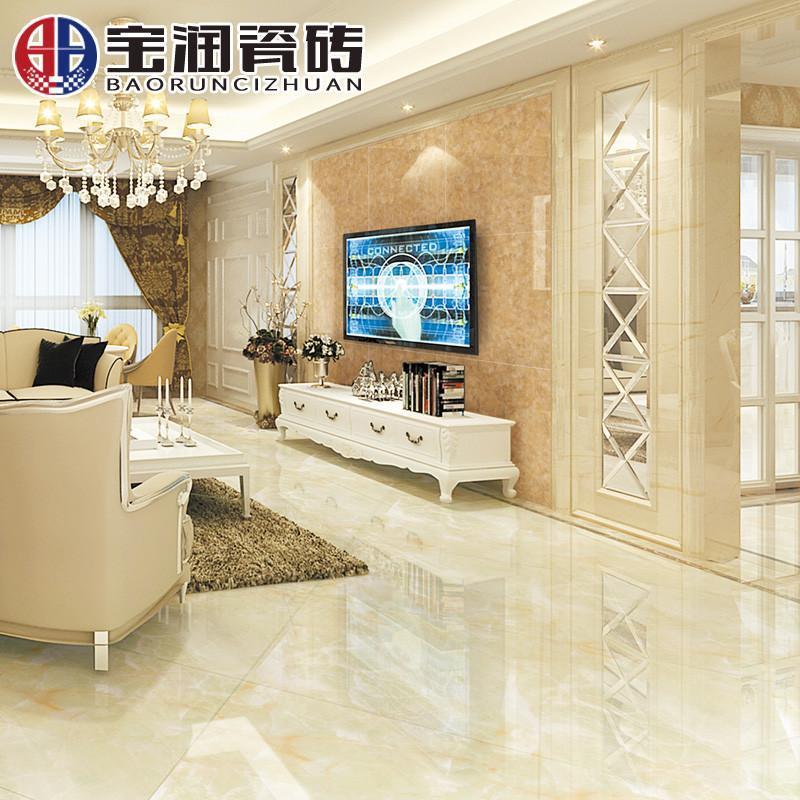 微晶石地砖800x800防滑地板砖客厅电视背景墙欧式