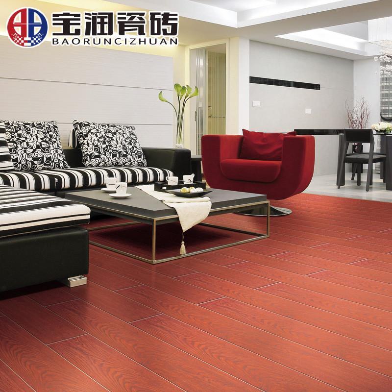 宝润瓷砖 木纹砖地砖防滑客厅卧室仿木地板砖哑光佛山装修建材地面砖