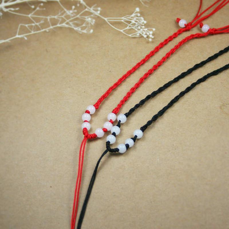 琥珀川 高档玉佩挂绳可调节项链手工编织玉吊坠男女绳子高清实拍图