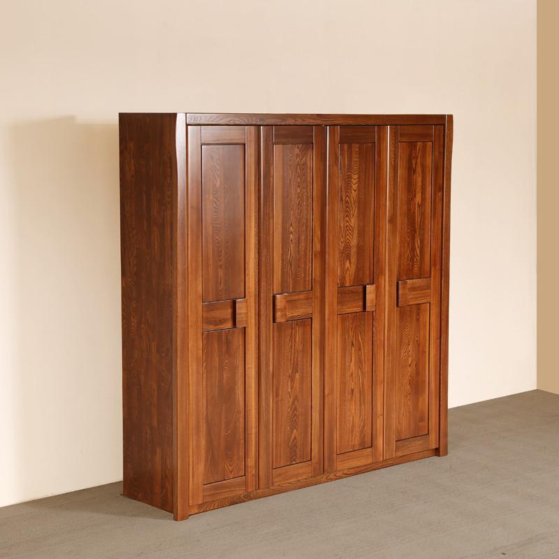】榆木中式实木衣柜