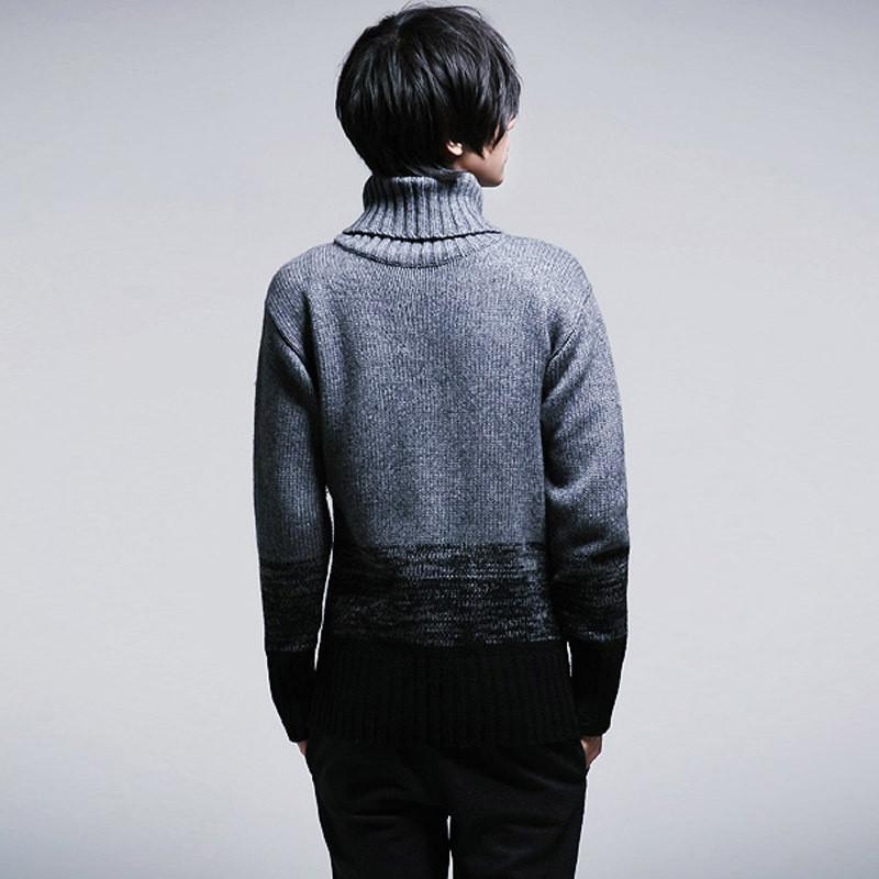 男款高领毛衣搭配图片