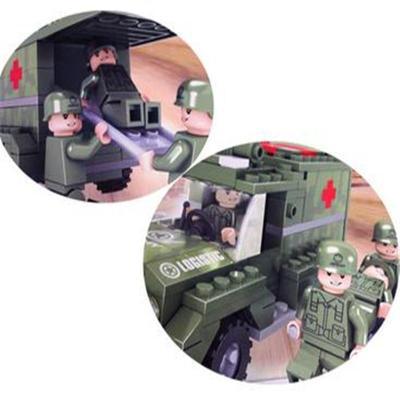 乐高式积木 战地救护车拼装积木
