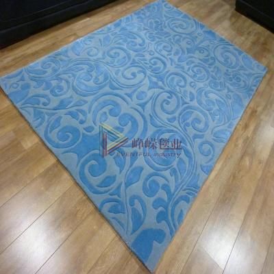 欧式蓝色地毯贴图素材