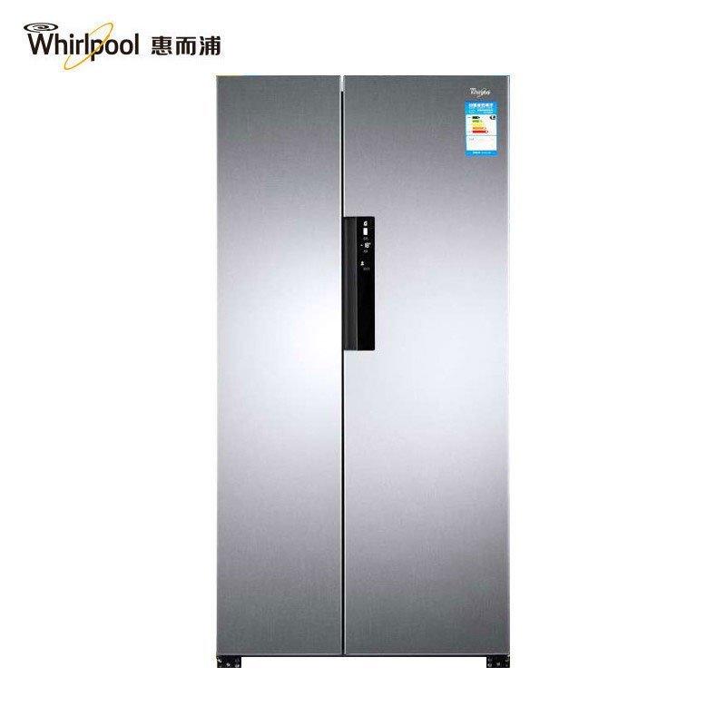 惠而浦(Whirlpool) BCD-603WDAW 603升风冷对开门冰箱(亮光银色)