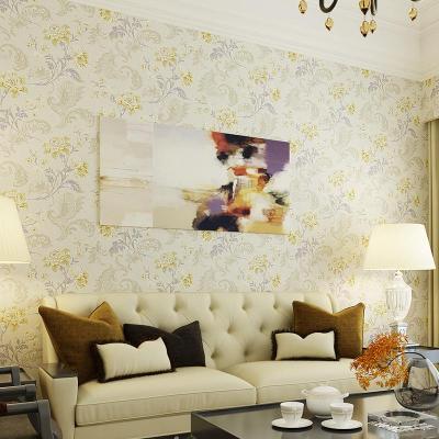 旗航 美式乡村田园绿色纯纸墙纸qhm-d卧室客厅布鲁斯特风格墙壁纸图片