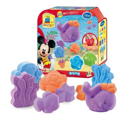 迪士尼3d打印机海底世界橡皮彩泥模具套装粘土儿童无毒安全玩具ds-131