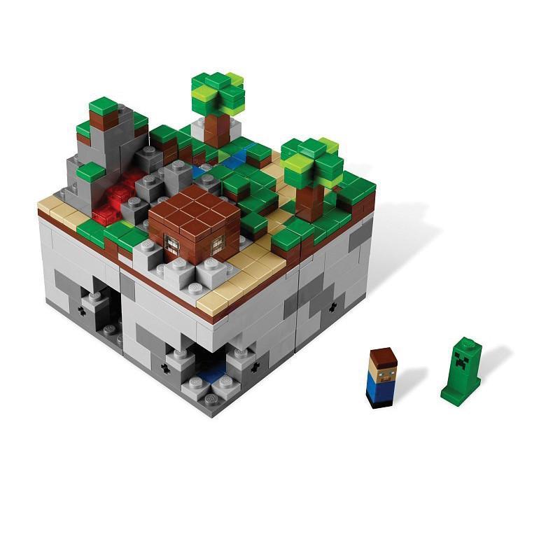 lego 乐高 我的世界 森林 minecraft micro world 21102