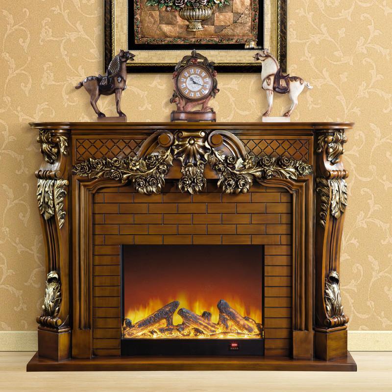 帝轩名典 2米白色做旧扫银 欧式壁炉架 美式电壁炉 装饰取暖炉心 壁炉