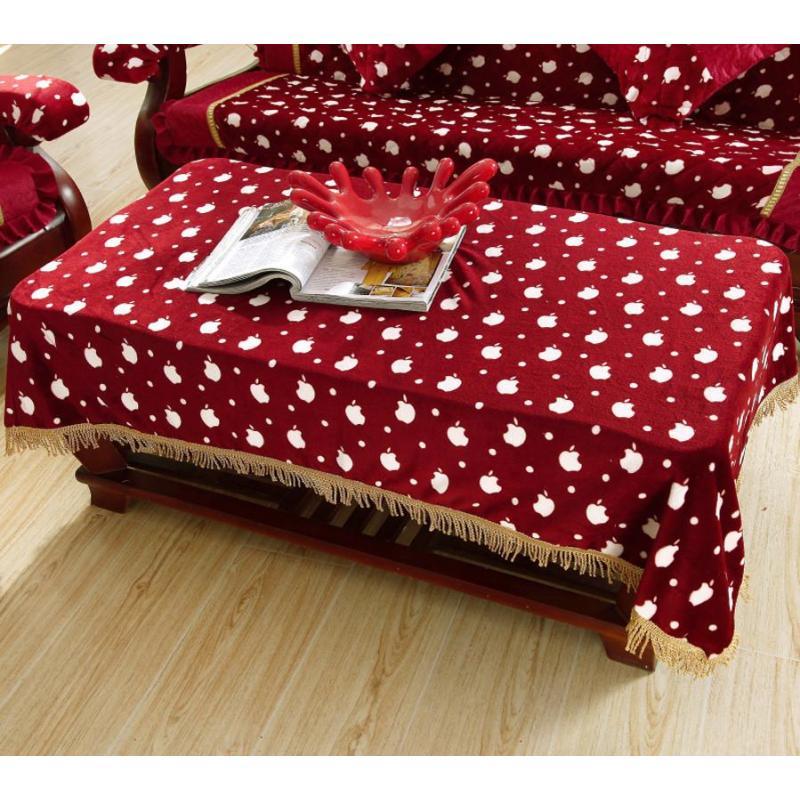 添富贵家居 实木红木沙发垫 法莱绒沙发坐垫套装 沙发巾 小苹果 扶