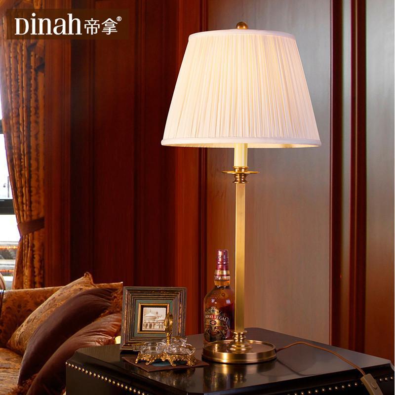 全铜灯欧式客厅书房卧室床头灯装饰台灯中式灯具宜家