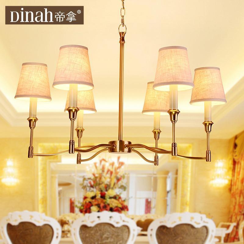 全纯铜吊灯美式客厅灯现代简约中式餐厅书房吊灯饰