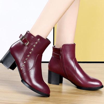 酒红色鞋子错误搭配