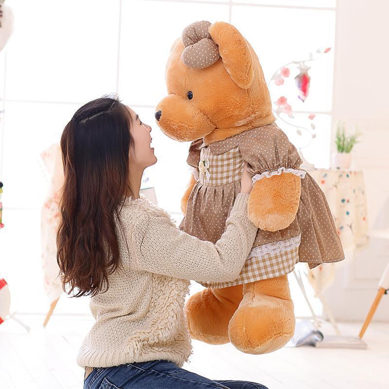 安吉宝贝 可爱裙子熊公仔 大号毛绒玩具熊布娃娃玩偶 情侣情人节礼物