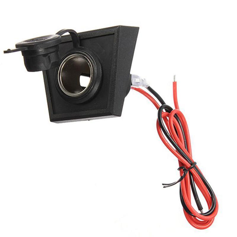 汽车摩托车点烟器插座12v-24v通用点烟器电源带安装面板