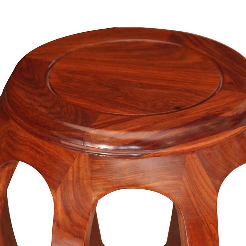 吕可可中式非洲花梨木鼓凳红木实木茶几小凳圆凳红