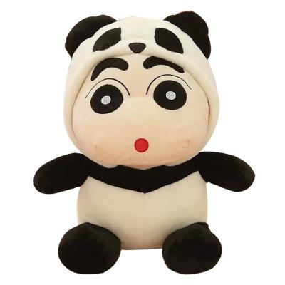 安吉宝贝可爱变装熊猫蜡笔小新公仔毛绒玩具布娃娃节