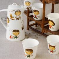 温水壶水杯套装水具正品骨瓷创意耐热陶瓷凉水壶杯具茶具套装包邮