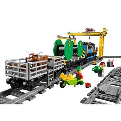 包邮乐高正品城市系列货运列车儿童益智拼装积木玩具l60052