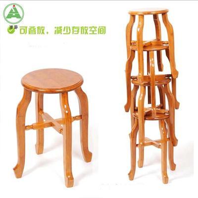 实木仿古楠竹圆凳子